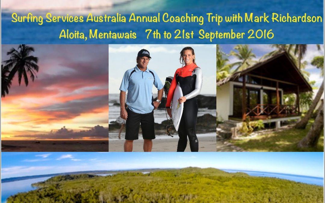 Mentawais Surf Trip – 7th to 20th September 2016