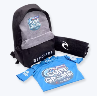 Rip Curl SurfGroms Merchandise Pack included with every SurfGroms registration