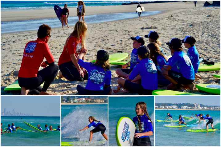 Weet-Bix SurfGroms, surf coaching with Surfing Services Australia at Currumbin Alley.