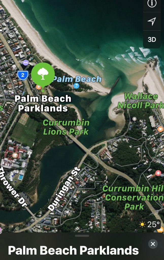 Commonwealth Games Gold Coast 2018 relocation maps for SurfGroms surfing with Surfing Services Australia.