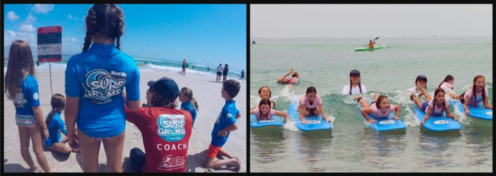 SurfGroms learning to surf at Currumbin Alley with Surfing Services Australia
